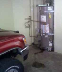 Water heater leaking concord